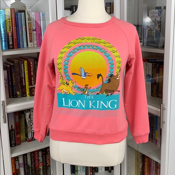 Disney The Lion King Bright Coral Sweatshirt